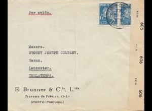 Portugal: 1944: Porto nach England, Zensur
