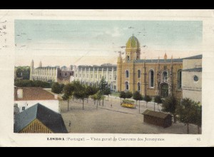 Portugal: 1911: Ansichtskarte Lisboa Strassenbahn