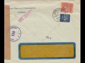 Portugal: 1953 Lisboa - Zensur, Perfin