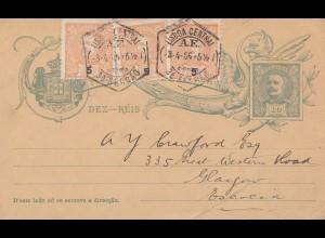 Portugal: 1906: Lisboa nach England