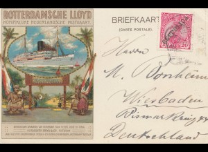 Portugal: 1912: Rotterdamsche Lloyd nach Wiesbaden