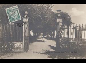 Portugal: 1933: Ansichtskarte Santarem nach Leipzig
