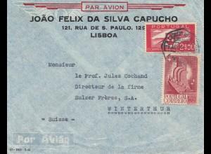 Portugal: 1941 Luftpost Lisboa nach Winterthur/Schweiz