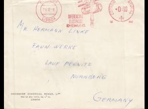 Portugal: 1958: Lisboa nach Nürnberg - Freistempel Demag