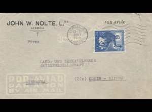 Portugal: 1953 Lisboa nach Köln
