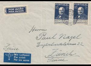 Portugal: 1941: Luftpost nach Zürich