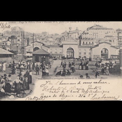 Portugal: 1904: Ansichtskarte Lisboa nach Genf