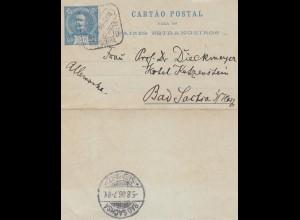 Portugal: 1906: kleiner Kartenbrief nach Bad Sachsa