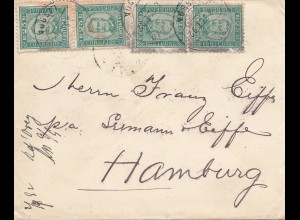 Portugal: 1892: Brief nach Hamburg. MeF