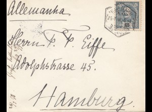 Portugal: 1898 Brief nach Hamburg, EF