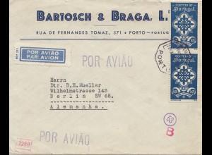 Portugal: 1941: Porto nach Berlin - Luftpost, Zensur