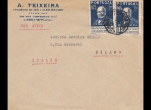 Portugal: 1941: Lisbonne nach Milano/Italien