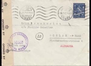 Portugal: 1946: Lisboa nach Goslar, Zensur