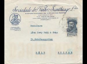 Portugal: 1945: Vila Nova de Gaia nach Basel/Schweiz