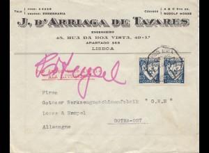 Portugal: 1940 Lisboa nach Gotha, Zensur