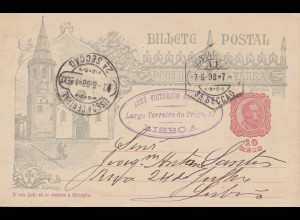 Portugal: 1898: Seccao nach Lisboa - Ganzsache