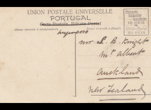 Portugal: 1907: Ansichtskarte Porto nach New Zealand !!!