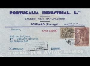 Portugal: 1955: Portimao nach Bremen - Luftpost