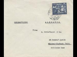 Portugal: Brief aus Lisboa nach München