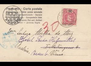 Portugal: 1902: Ansichtskarte nach Italien