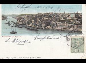 Portugal: 1904 Ansichtskarte Porto nach München