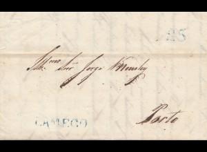 Portugal: 1838: Brief nach Porto