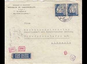 Portugal: 1941: Luftpost Lisboa nach Friedrichshafen-Maybach Motoren