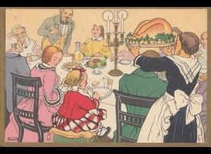 Portugal: 1939: Ansichtskarte Festessen Geflügel, Neues Jahr/Weihnachten