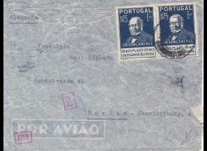 Portugal: 1940: Brief nach Berlin, Zensur