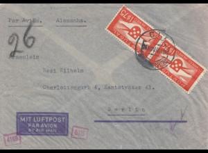 Portugal: 1940: Brief nach Berlin, Zensur Luftpost