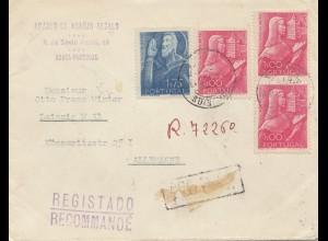 Portugal: 1948: Brief Braga nach Leipzig, Einschreiben