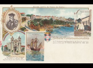 Portugal: Bilhete Commemorativo of 1898