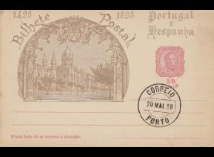 Portugal: 1898: Ganzsache Stempel Porto