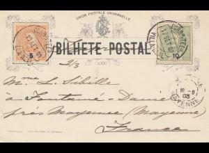 Portugal: 1903: Ansichtskarte Eduardo VII , Mayenne