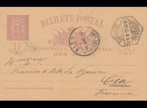 Portugal: 1895: Ganzsache nach Geia