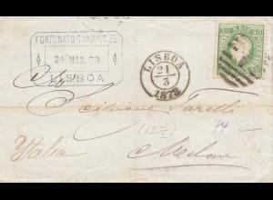 Portugal: 1878 Lisboa nach Italien