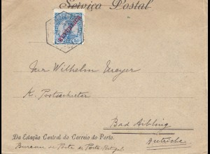 Portugal: 1910: Brief nach Bad Aibling