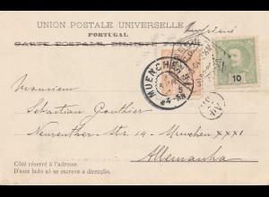 Portugal: 1904: Ansichtskarte Lisboa nach München