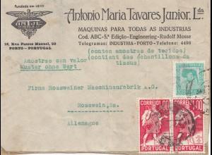 Portugal: Brief von Porto nach Rosswein