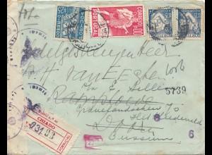 Portugal: 1942: Brief von Chiado mit Zensur
