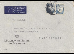 Portugal: 1942: Brief Legation des Suisse au Portugal nach Winterthur