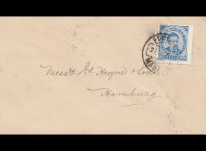 Portugal: 1889: Brief aus Madeira Funchal nach Hamburg