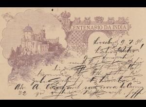 Portugal: 1898 Karte Lisboa nach Barmen