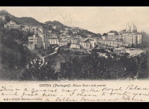 Portugal: 1907: Ansichtskarte Cintra nach England