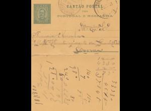 Portugal: 1895: Kartenbrief