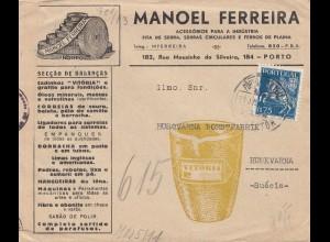 Portugal: 1944: Brief aus Porto in die Schweiz mit Zensur