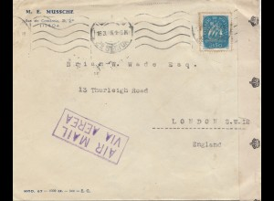 Portugal: 1945: Lisboa nach London, Air mail, Zensur