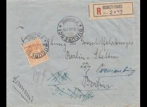 Rumänien: 1914: Einschreiben Bucurestci nach Oranienburg