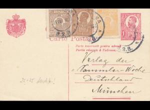 Rumänien: 1892: Ganzsache nach München