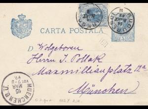 Rumänien: 1899: Bucureci nach München